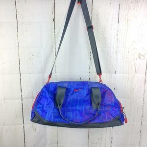 Vintage Nike Swoosh Logo Duffel Duffle Bag